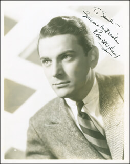 ROBERT WILCOX - AUTOGRAPHED INSCRIBED PHOTOGRAPH CIRCA 1938