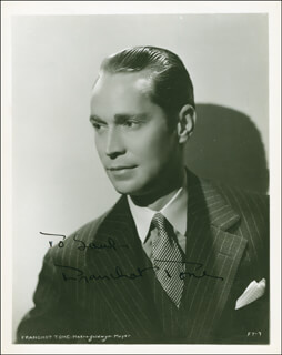 FRANCHOT TONE - AUTOGRAPHED INSCRIBED PHOTOGRAPH CIRCA 1935