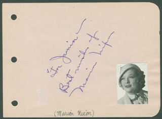 MARIAN NIXON - AUTOGRAPH NOTE SIGNED
