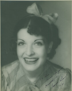 FRANCES GRANT - AUTOGRAPHED INSCRIBED PHOTOGRAPH 11/01/1935