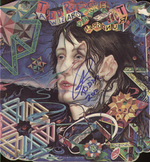TODD RUNDGREN - RECORD ALBUM COVER SIGNED 2010