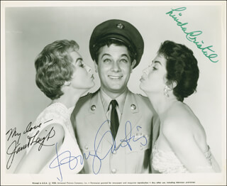 THE PERFECT FURLOUGH MOVIE CAST - AUTOGRAPHED SIGNED PHOTOGRAPH CO-SIGNED BY: TONY CURTIS, LINDA CRISTAL, JANET LEIGH