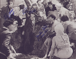 IT''S A MAD, MAD, MAD, MAD WORLD MOVIE CAST - AUTOGRAPHED SIGNED PHOTOGRAPH CO-SIGNED BY: PETER FALK, MICKEY ROONEY, JONATHAN WINTERS