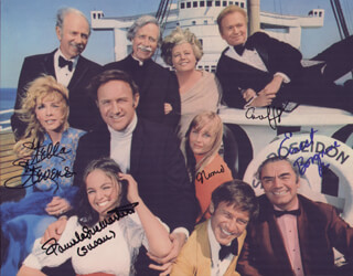 THE POSEIDON ADVENTURE MOVIE CAST - AUTOGRAPHED SIGNED PHOTOGRAPH CO-SIGNED BY: PAMELA SUE MARTIN, ERNEST BORGNINE, GENE HACKMAN, STELLA STEVENS, CAROL LYNLEY