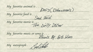 BOB THE DEPUTY SHERIFF FOSTER - QUESTIONNAIRE SIGNED