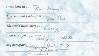 JOE THEISMANN - QUESTIONNAIRE SIGNED