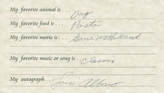 LOU ALBANO - QUESTIONNAIRE SIGNED