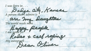 DEAN OLIVER - QUESTIONNAIRE SIGNED