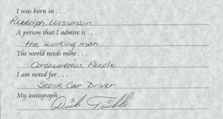DICK TRICKLE - QUESTIONNAIRE SIGNED