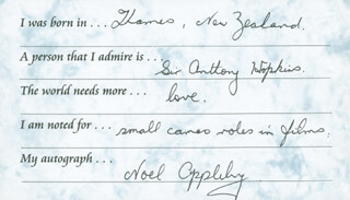 NOEL APPLEBY - QUESTIONNAIRE SIGNED