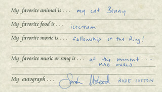 SARAH McLEOD - QUESTIONNAIRE SIGNED