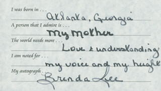 BRENDA LEE - QUESTIONNAIRE SIGNED
