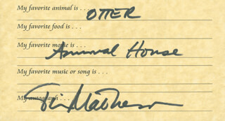 TIM MATHESON - QUESTIONNAIRE SIGNED