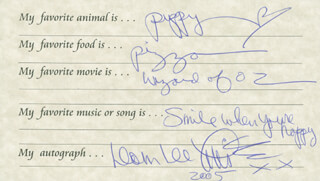DOM DELUISE - QUESTIONNAIRE SIGNED 2005