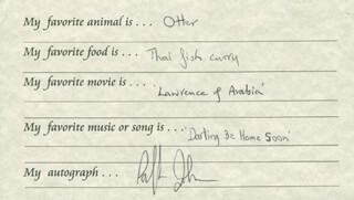 RALPH JOHNSON - QUESTIONNAIRE SIGNED