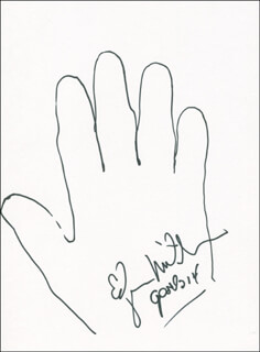 Autographs: CAPTAIN EDGAR D. MITCHELL - HAND/FOOT PRINT OR SKETCH SIGNED