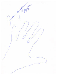 Autographs: JEANA YEAGER - HAND/FOOT PRINT OR SKETCH SIGNED