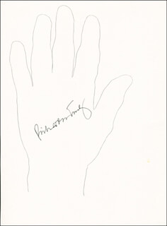 Autographs: VICE ADMIRAL RICHARD H. TRULY - HAND/FOOT PRINT OR SKETCH SIGNED