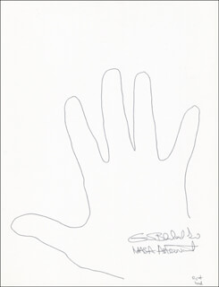 Autographs: COLONEL GUION S. GUY BLUFORD JR. - HAND/FOOT PRINT OR SKETCH SIGNED