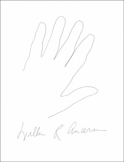 Autographs: WILLIAM R. ANDERSON - HAND/FOOT PRINT OR SKETCH SIGNED