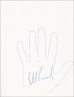 Autographs: BERTRAND PICCARD - HAND/FOOT PRINT OR SKETCH SIGNED