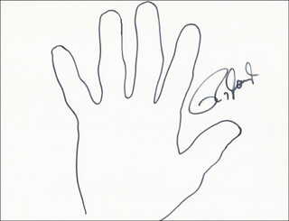Autographs: ROY JONES JR. - HAND/FOOT PRINT OR SKETCH SIGNED