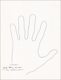 Autographs: DON WALSH - HAND/FOOT PRINT OR SKETCH SIGNED 05/12/2004