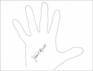 Autographs: JAMES R. LEAVELLE - HAND/FOOT PRINT OR SKETCH SIGNED