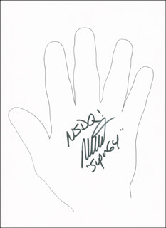Autographs: MICHAEL DURANT - HAND/FOOT PRINT OR SKETCH SIGNED