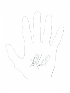 Autographs: ROBERT BALLARD - HAND/FOOT PRINT OR SKETCH SIGNED