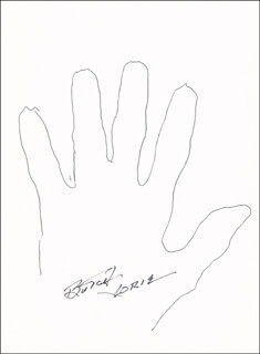 Autographs: CAPTAIN ROY BUTCH VORIS - HAND/FOOT PRINT OR SKETCH SIGNED
