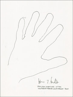 HANS FICHTNER - HAND/FOOT PRINT OR SKETCH SIGNED