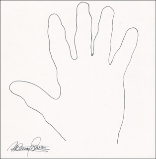 MAURY LAWS - HAND/FOOT PRINT OR SKETCH SIGNED