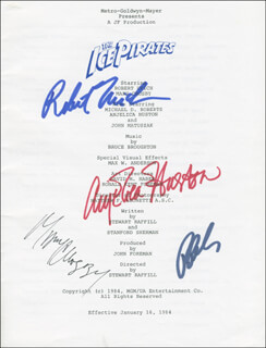 THE ICE PIRATES MOVIE CAST - PROGRAM SIGNED CIRCA 1984 CO-SIGNED BY: ROBERT URICH, MARY CROSBY, ANJELICA HUSTON, RON PERLMAN