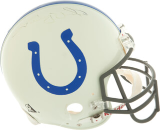 JOHNNY UNITAS - HELMET SIGNED