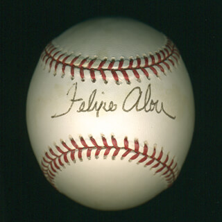 FELIPPE PANQUE ALOU - AUTOGRAPHED SIGNED BASEBALL