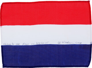 Autographs: COLONEL ALFRED M. WORDEN - FLAG SIGNED