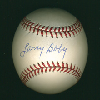 Autographs: LARRY DOBY - BASEBALL SIGNED