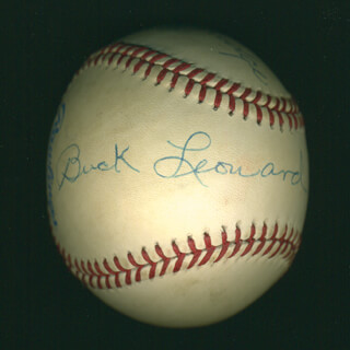 RAY DANDRIDGE - AUTOGRAPHED SIGNED BASEBALL CO-SIGNED BY: BUCK LEONARD