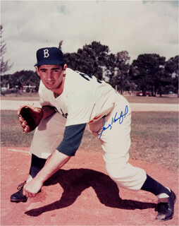SANDY KOUFAX - AUTOGRAPHED SIGNED POSTER