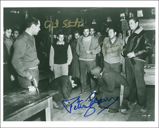 STALAG 17 MOVIE CAST 1953 - AUTOGRAPHED SIGNED PHOTOGRAPH CO-SIGNED BY: PETER GRAVES, GIL STRATTON, RICHARD ERDMAN