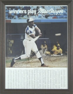 Autographs: HANK AARON - POSTER SIGNED