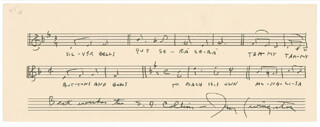 JAY LIVINGSTON - AUTOGRAPH MUSICAL SCORE SIGNED