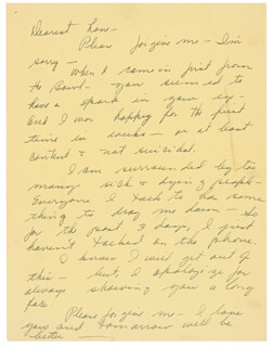 JEAN PETERS - AUTOGRAPH LETTER UNSIGNED