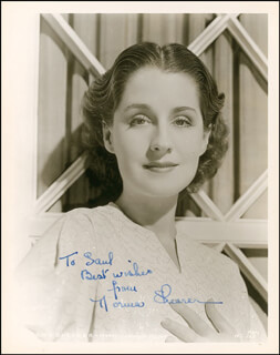 NORMA SHEARER - AUTOGRAPHED INSCRIBED PHOTOGRAPH CIRCA 1935