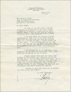 SIGMUND ROMBERG - TYPED LETTER SIGNED 03/17/1932