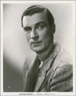 WALTER PIDGEON - AUTOGRAPHED INSCRIBED PHOTOGRAPH CIRCA 1941