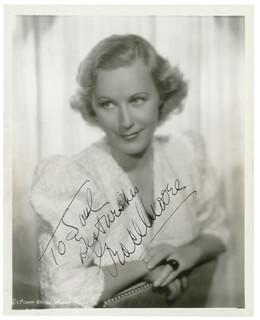 GRACE MOORE - AUTOGRAPHED INSCRIBED PHOTOGRAPH CIRCA 1936