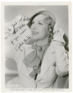 GERTRUDE MICHAEL - AUTOGRAPHED INSCRIBED PHOTOGRAPH