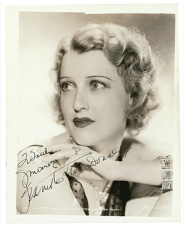 JEANETTE MacDONALD - AUTOGRAPHED INSCRIBED PHOTOGRAPH CIRCA 1934